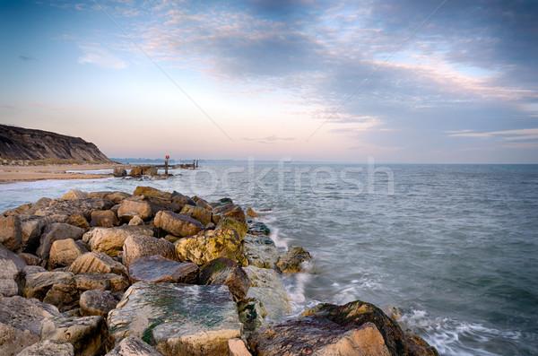 Coucher du soleil tête plage maquereau ciel nature Photo stock © flotsom