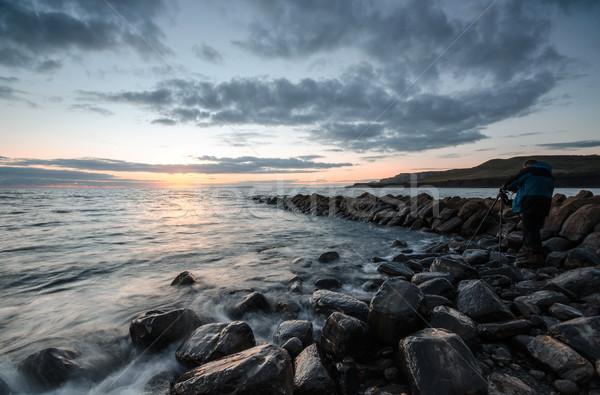 Landschap fotograaf zonsondergang natuur zomer wolk Stockfoto © flotsom
