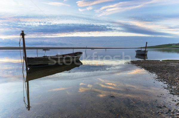 Fishing Boats on the Fleet Lagoon Stock photo © flotsom