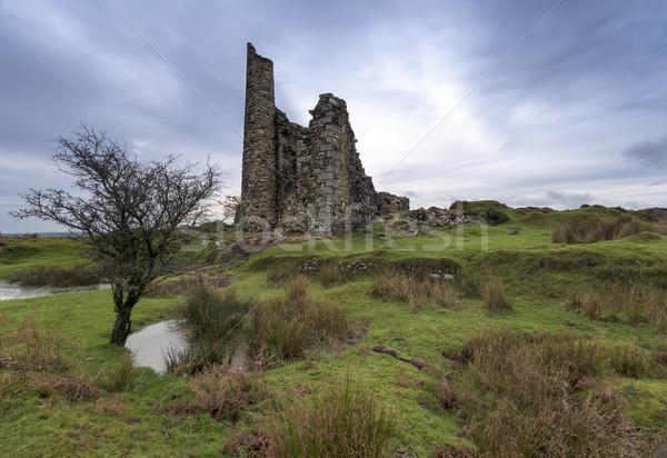 Motor huis ruines oude tin mijnbouw Stockfoto © flotsom