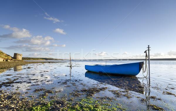флот синий лодка воды пейзаж морем Сток-фото © flotsom