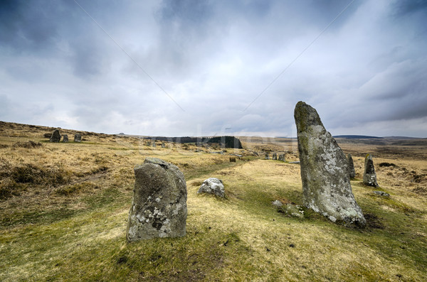 Scorehill Stone Circle on Dartmoor Stock photo © flotsom