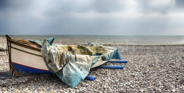 пляж небе морем синий Сток-фото © flotsom
