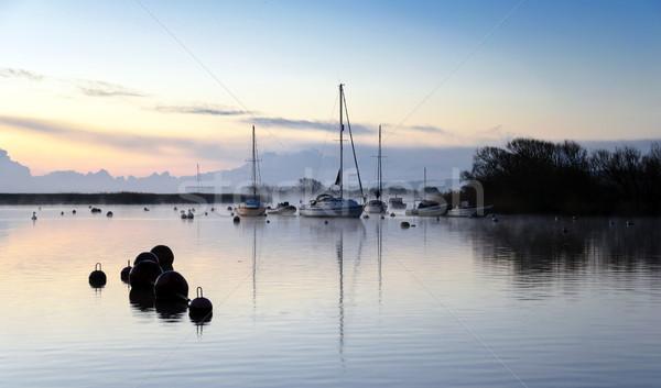 Tekneler buğu liman Stok fotoğraf © flotsom