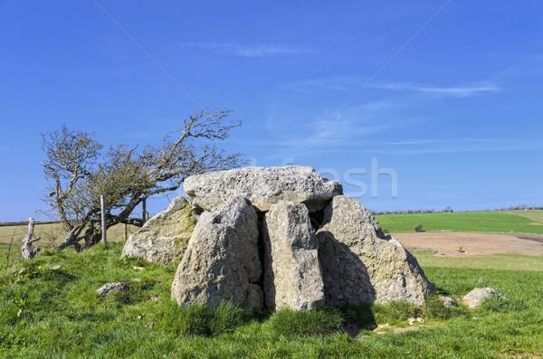 Natuur steen Europa geschiedenis graf Engeland Stockfoto © flotsom