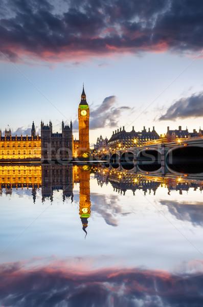Londres crépuscule maisons parlement Big Ben westminster Photo stock © flotsom