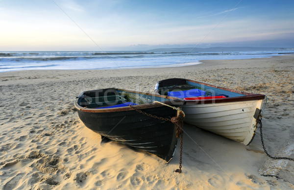 рыбалки лодках пляж старые пород Сток-фото © flotsom
