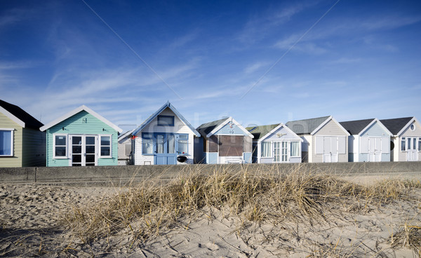 Brightly Coloured Beach Huts Stock photo © flotsom