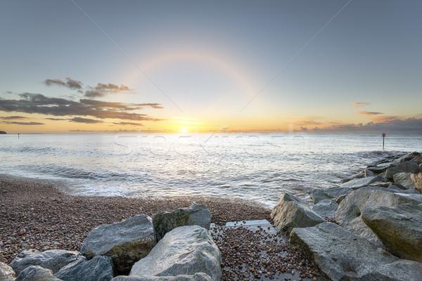 Plage côte coucher du soleil nature mer Photo stock © flotsom