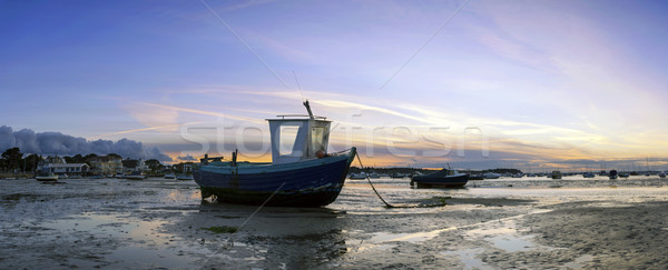 Stock photo: Fishing Boats Panorama