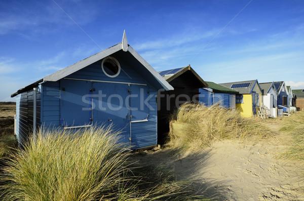 Plage sable cracher tête herbe été Photo stock © flotsom