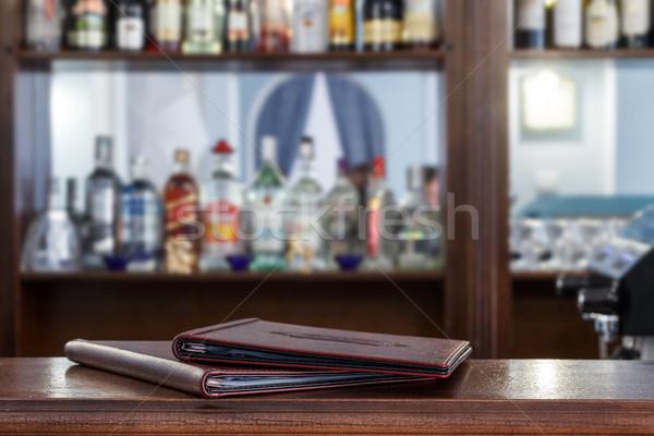 Menü bar çubuklar doku kahve Stok fotoğraf © fogen
