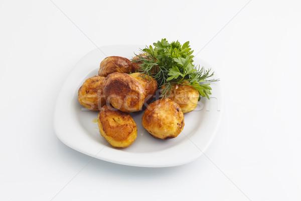 Gebakken peterselie witte groene lunch Stockfoto © fogen