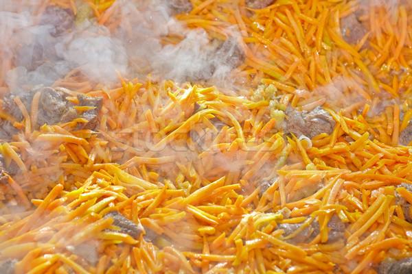 Et havuç gıda yağ kırmızı Stok fotoğraf © fogen