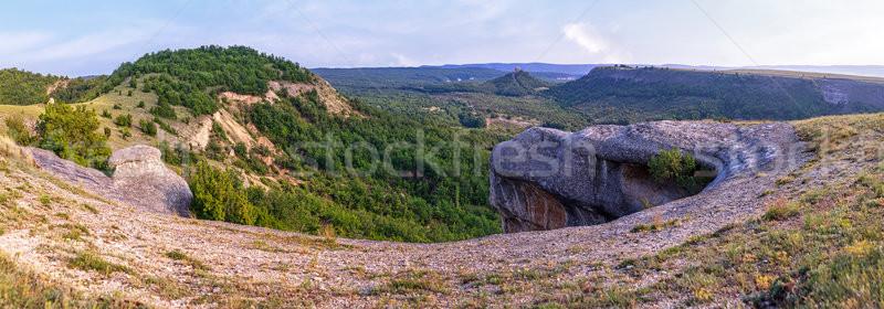 Panorama dağ kanyon güzel görmek Stok fotoğraf © fogen