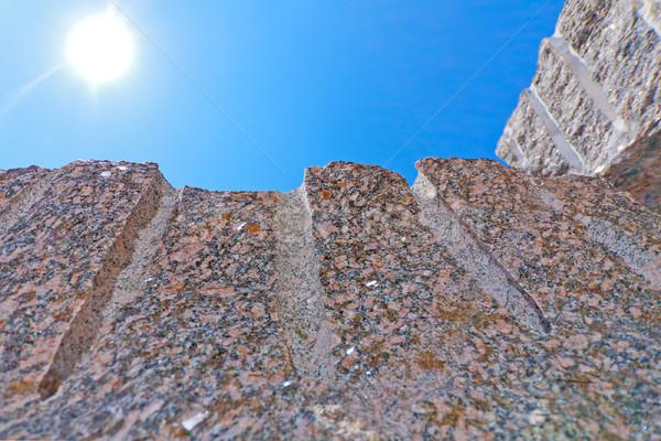 Гранит блоки большой кусок небе солнце Сток-фото © fogen