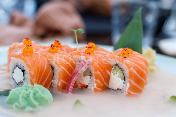 Fresh chilled sushi. Stock photo © fogen