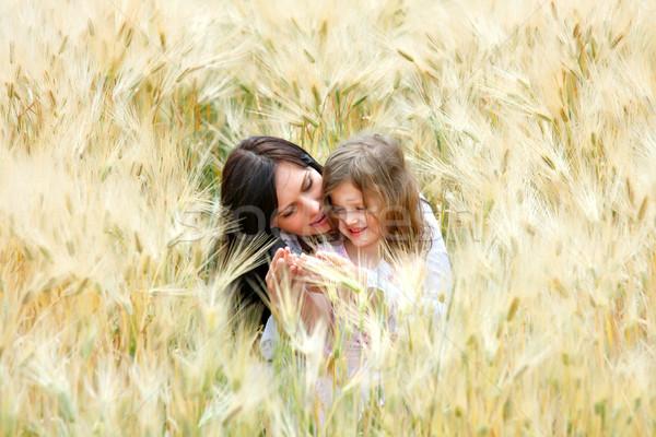 Anne kız mutlu gülmek çavdar aile Stok fotoğraf © fogen