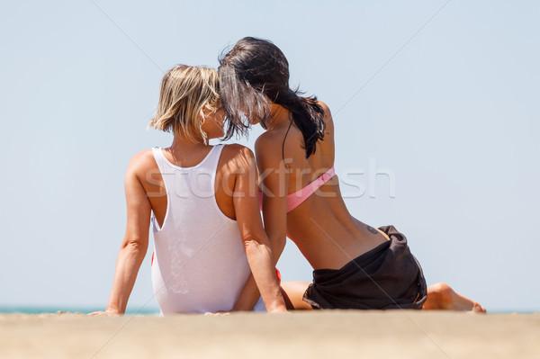Iki genç kızlar doğal Stok fotoğraf © fogen