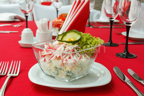 Salad with crab meat Stock photo © fogen