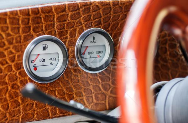 автомобилей интерьер приборная панель ретро-стиле аннотация промышленности Сток-фото © fogen