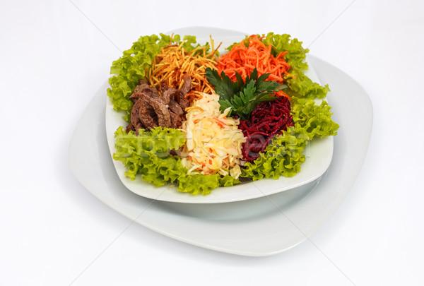 Salade vlees vel witte Stockfoto © fogen