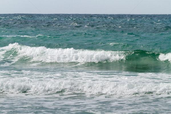 Deniz manzarası dalga dalgalar ışık güneş Stok fotoğraf © fogen
