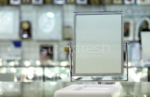 Spiegel ondersteuning rechthoekig metaal Stockfoto © fogen