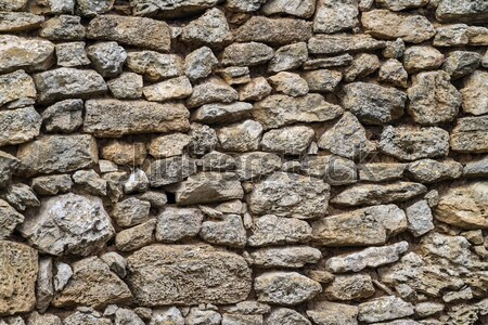 part of a stone wall, for background or texture. Stock photo © fogen