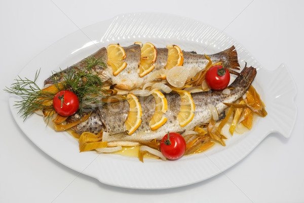 freshly cooked trout Stock photo © fogen