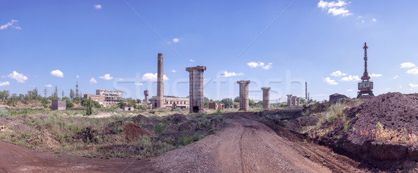 ruins of an old factory Stock photo © fogen