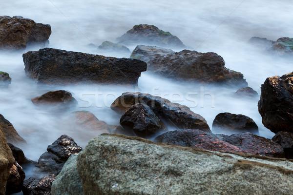 Stock fotó: Köd · víz · reggel · part · tenger · természet