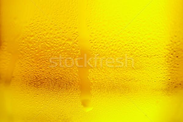Glas koud bier koude drank voedsel Stockfoto © fogen