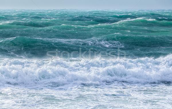 Deniz dalgalar ışık güneş mavi gökyüzü Stok fotoğraf © fogen