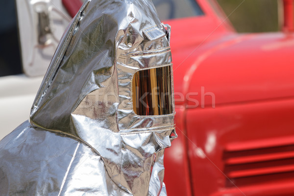 Fire in special heat resistant suit Stock photo © fogen