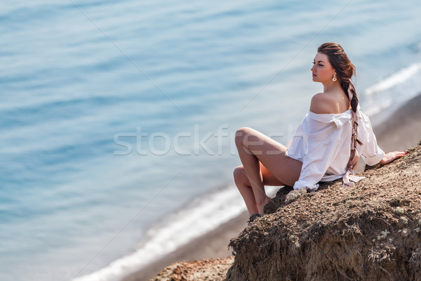 Admiring the sea Stock photo © fogen