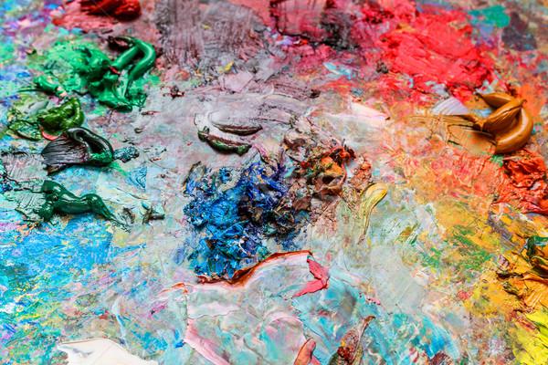 палитра цветами аннотация зеленый синий Сток-фото © fogen