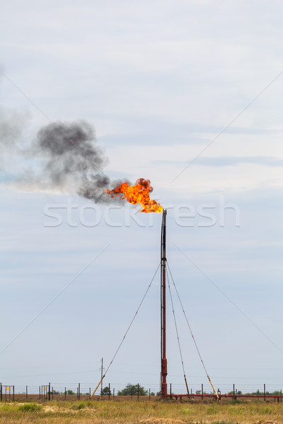 refinery fire gas torch Stock photo © fogen