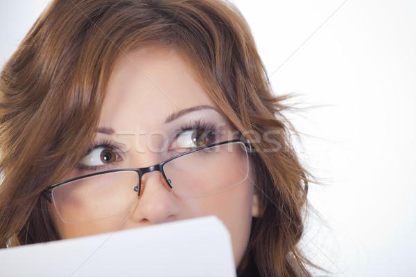 Girl with glasses Stock photo © fogen