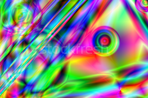 Colorful psychedelic background Stock photo © fogen