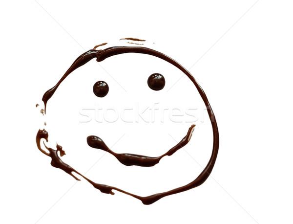 Chocolade geschilderd witte gezicht schilderij Stockfoto © fogen