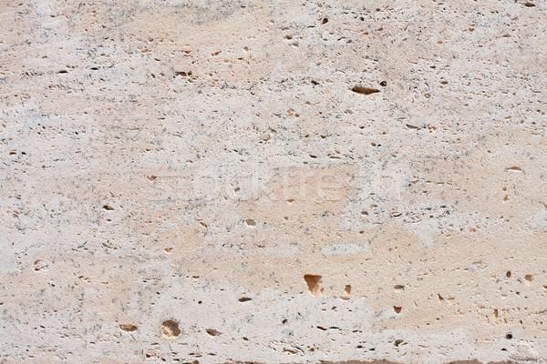Veelkleurig kalksteen oppervlak textuur baksteen Stockfoto © fogen