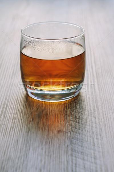 Thee glas houten tafel hot achtergrondverlichting voedsel Stockfoto © fogen