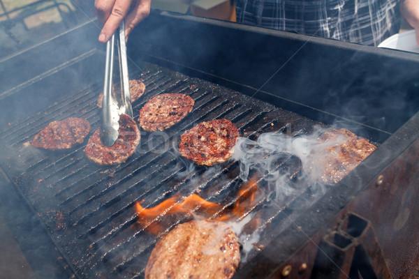 Meat for hamburgers Stock photo © fogen