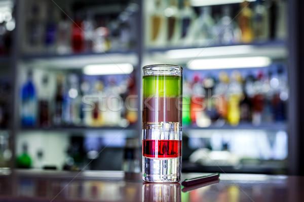 красочный коктейль алкоголя Бар Сток-фото © fogen