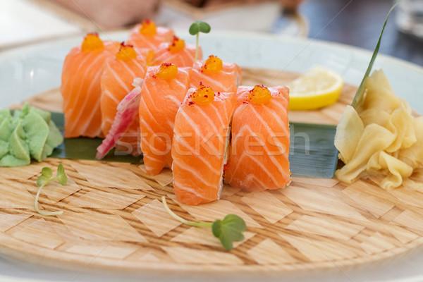 суши свежие продовольствие рыбы кухне Сток-фото © fogen