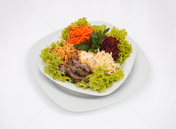 Taze salata taze sebze dilimleri et Stok fotoğraf © fogen