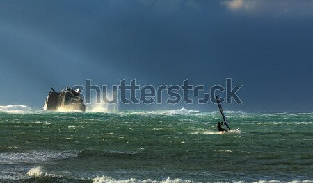 Storm and surfing Stock photo © fogen