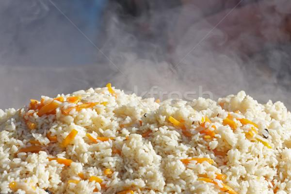 Taze hazır sıcak pirinç gıda Stok fotoğraf © fogen