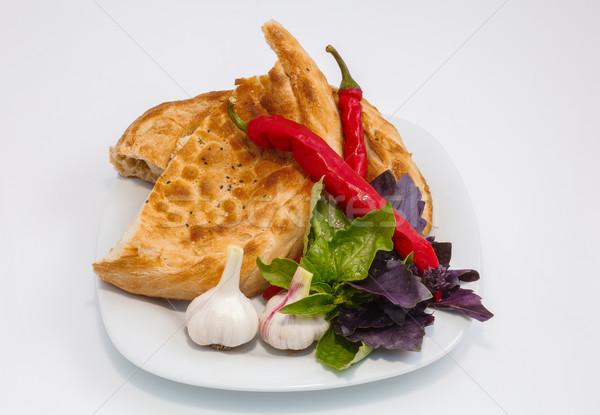 овощей пластина ломтик хлеб красный Сток-фото © fogen